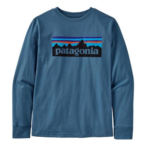 Patagonia Boys Long-Sleeved Graphic Organic T-Shirt Pgnblu_plpb