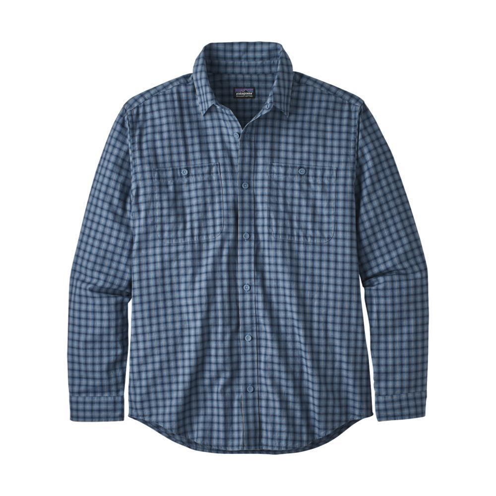 Patagonia Men's Long-Sleeved Organic Pima Cotton Shirt BLUE_PRWB