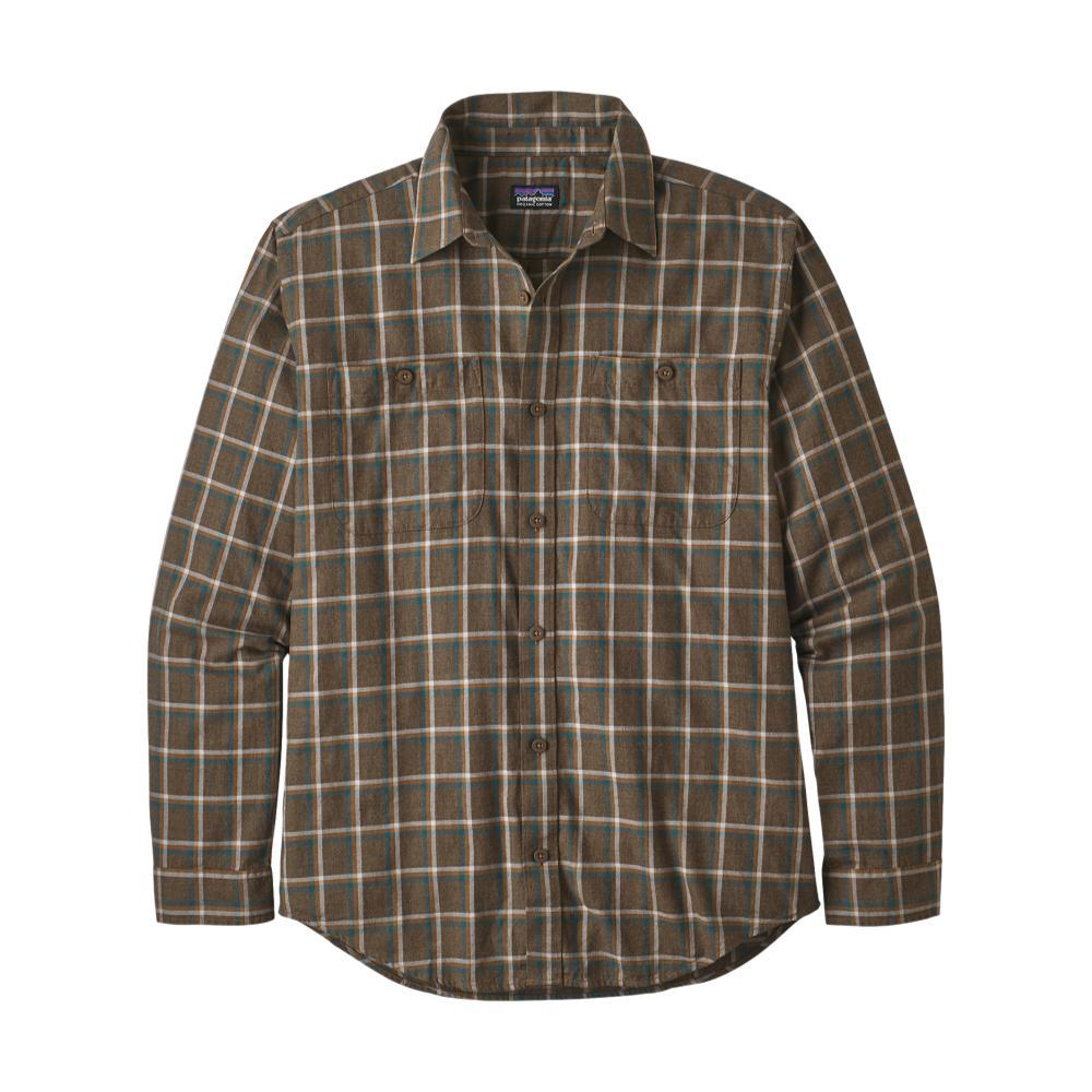 Patagonia Men's Long-Sleeved Organic Pima Cotton Shirt BRWN_RLLB