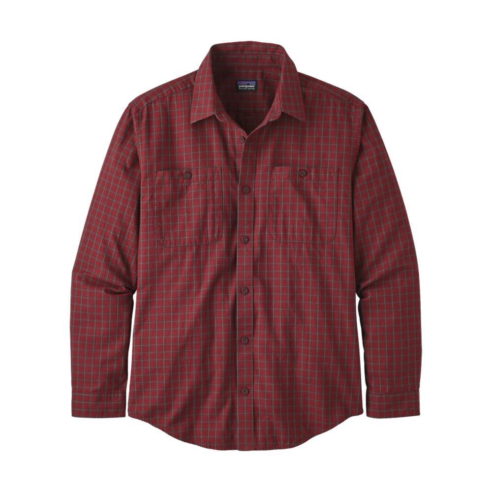 Patagonia Men's Long-Sleeved Organic Pima Cotton Shirt LAVA_PRML