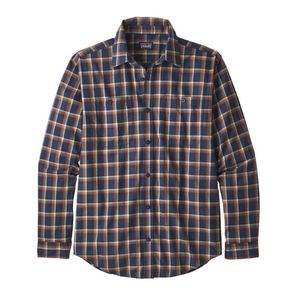 Patagonia Men's Long-Sleeved Organic Pima Cotton Shirt NAVY_RLLN