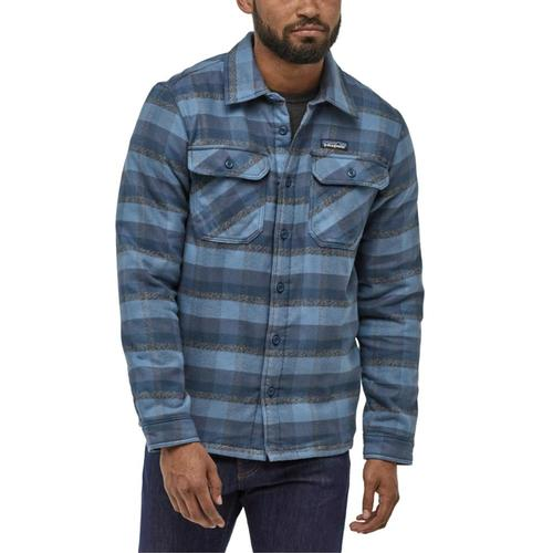 Patagonia Men's Insulated Fjord Flannel Jacket Blue_obwb