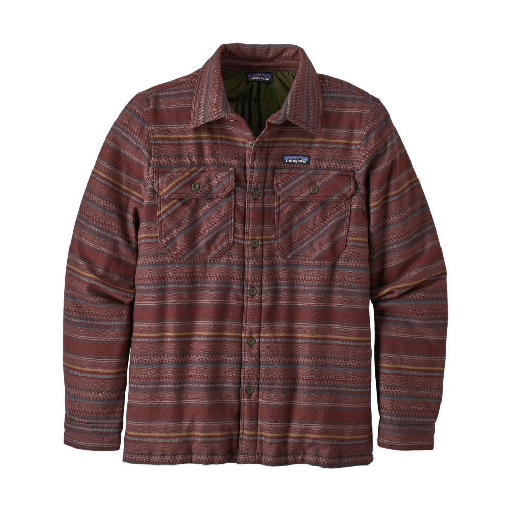 Patagonia Men's Insulated Fjord Flannel Jacket RUBY_FDDY