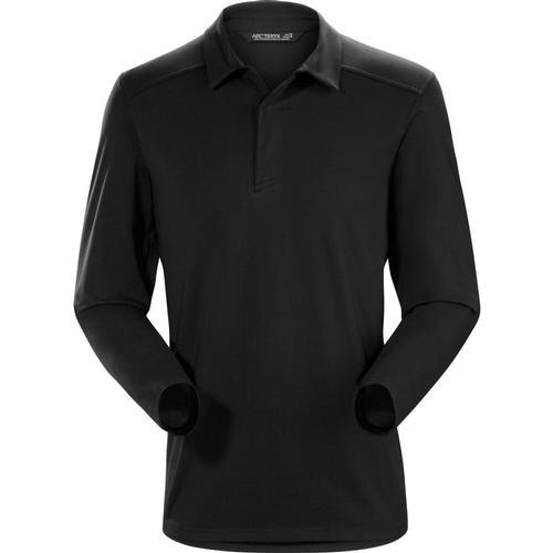 Arc'teryx Men's Captive Long Sleeve Polo Shirt Blkblk