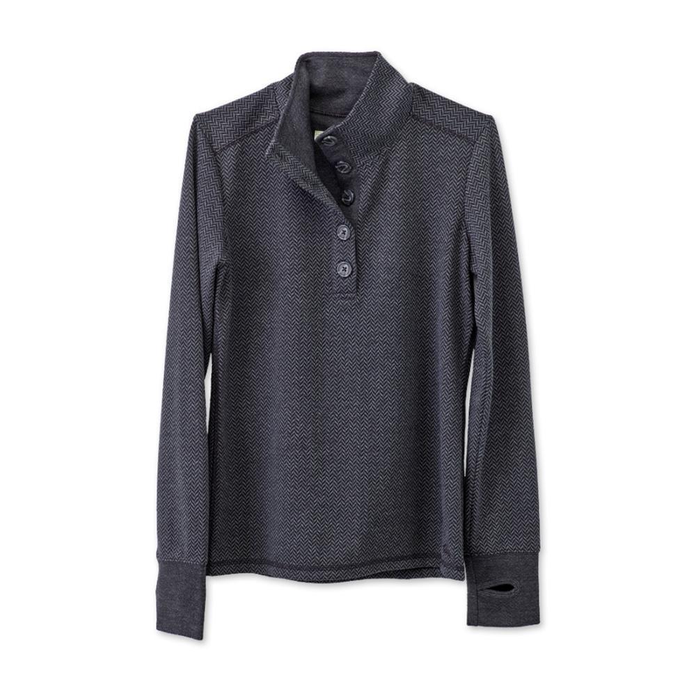 KAVU Women's Lopez Long Sleeve Shirt CHARCOAL