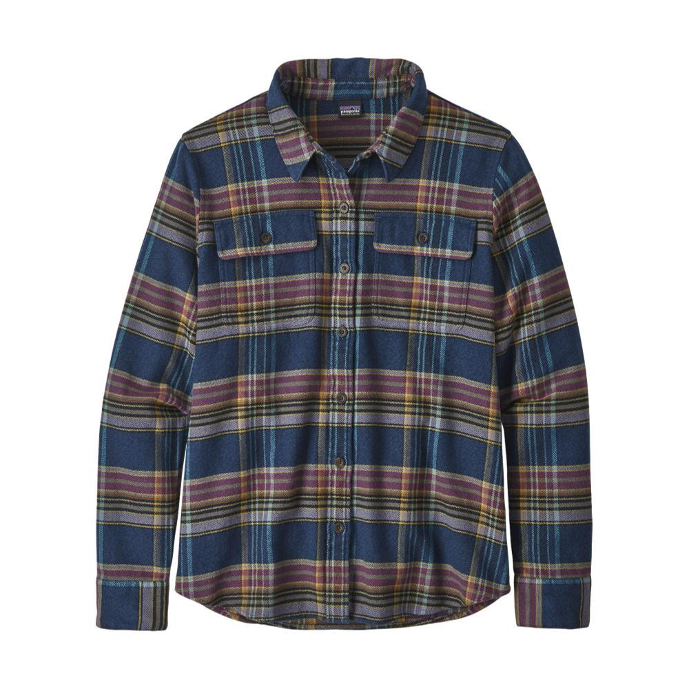 Patagonia Women's Long-Sleeved Fjord Flannel Shirt BLUE_CTSE