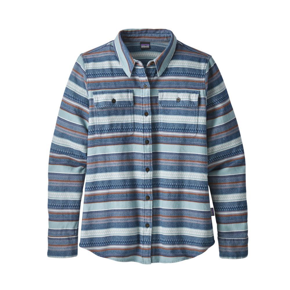 Patagonia Women's Long-Sleeved Fjord Flannel Shirt FOSB_BLUE