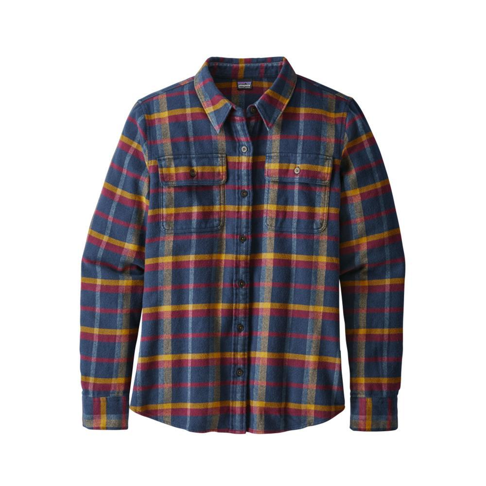Patagonia Women's Long-Sleeved Fjord Flannel Shirt RLAR_RED