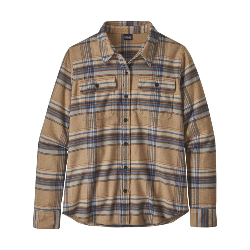 Patagonia Women's Long-Sleeved Fjord Flannel Shirt TAN_CTBT