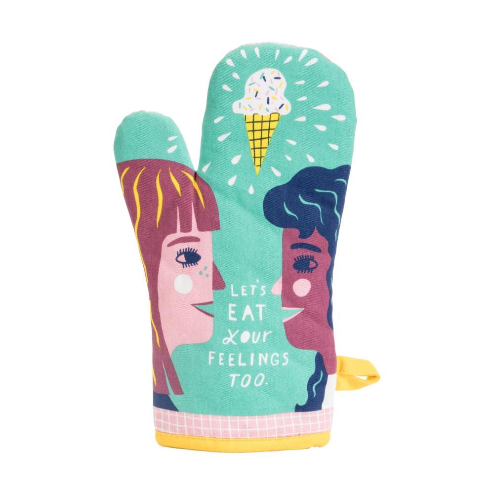 Blue Q Let's Eat Your Feelings Too Oven Mitt