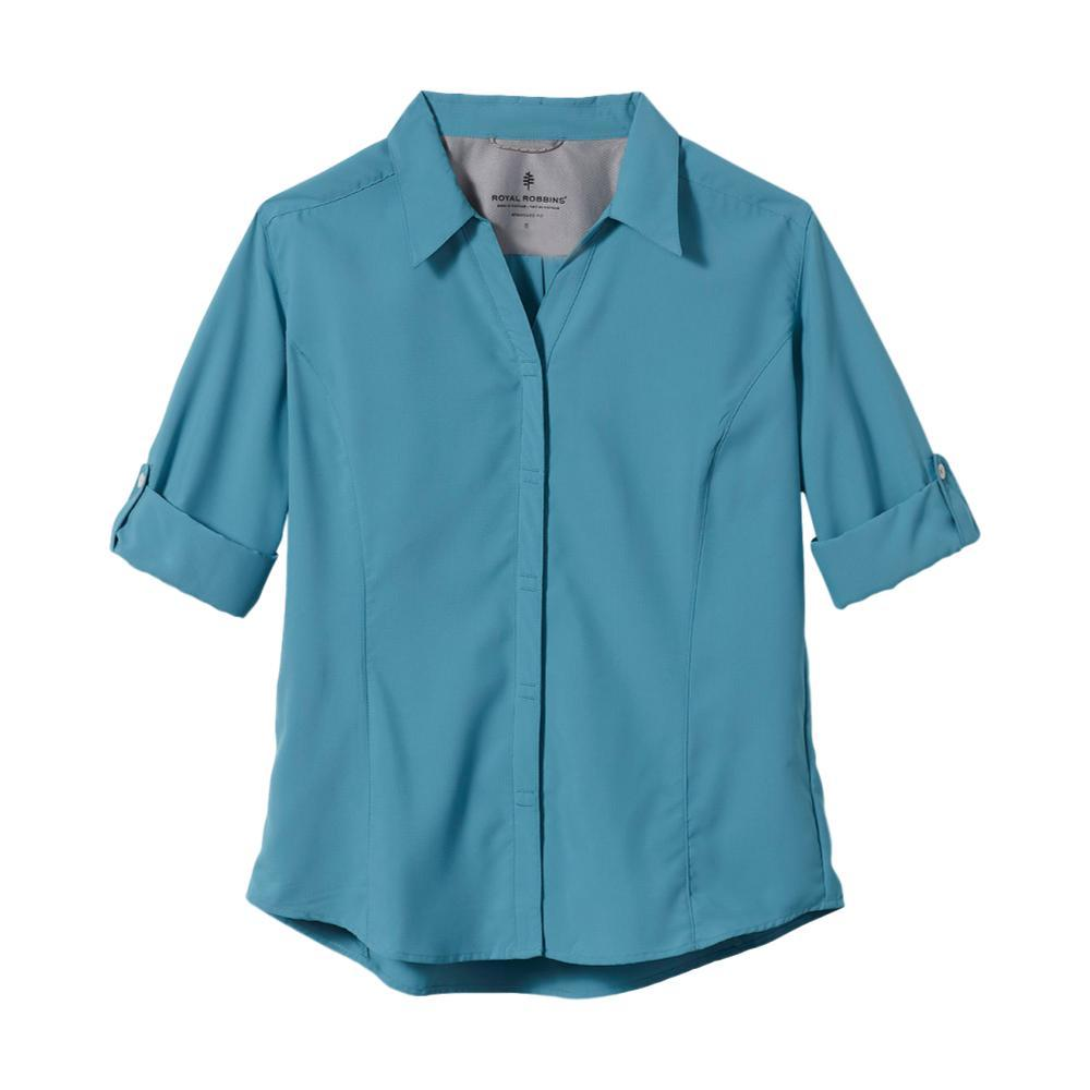 Royal Robbins Women's Expedition 3/4 Sleeve Shirt ADRIATIC_896