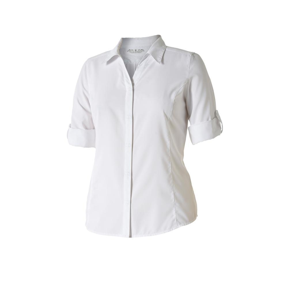 Royal Robbins Women's Expedition 3/4 Sleeve Shirt WHITE