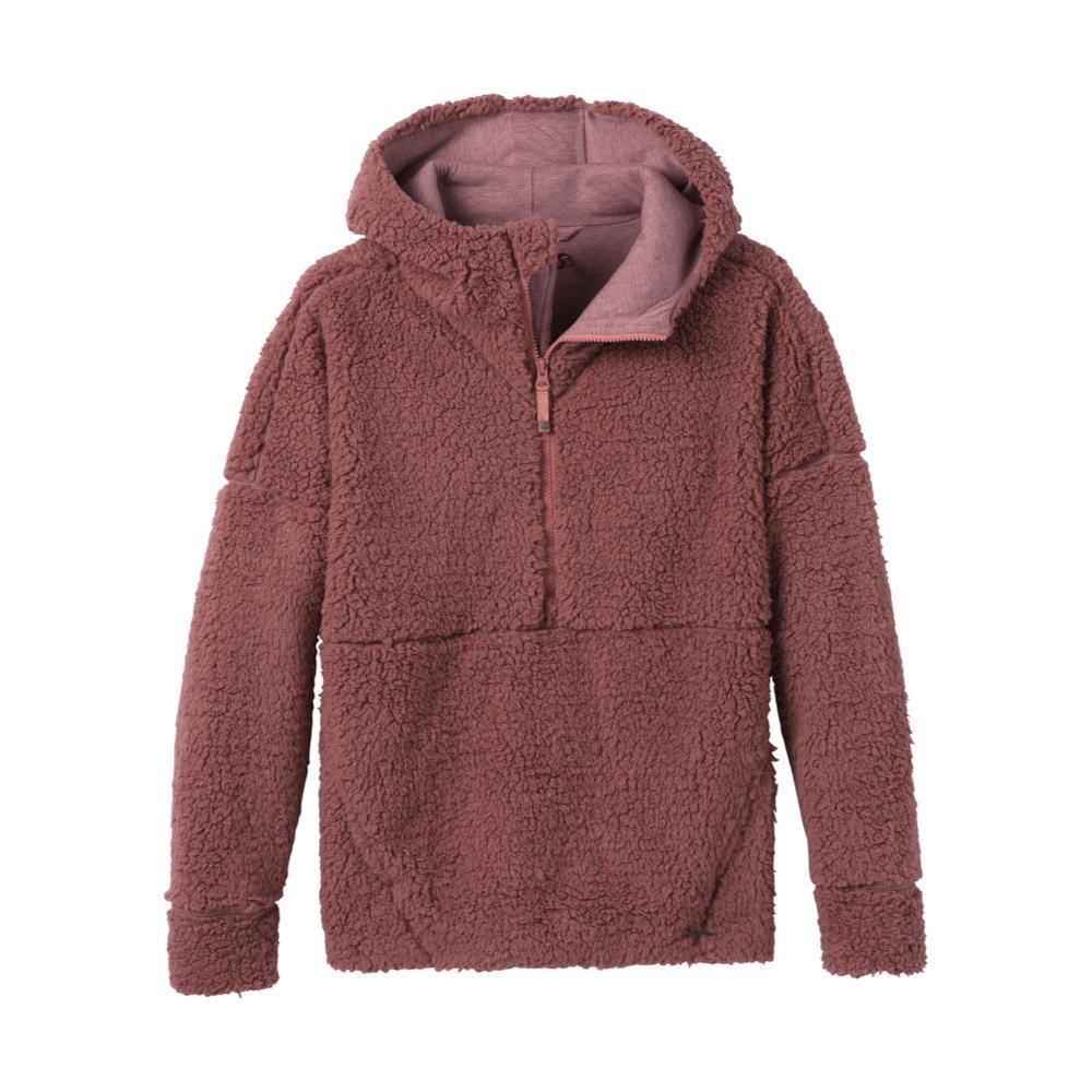 prAna Women's Permafrost Half Zip Pullover Hoodie BRANDY