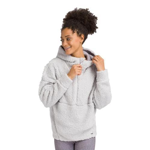 prAna Women's Permafrost Half Zip Pullover Hoodie Silverspray
