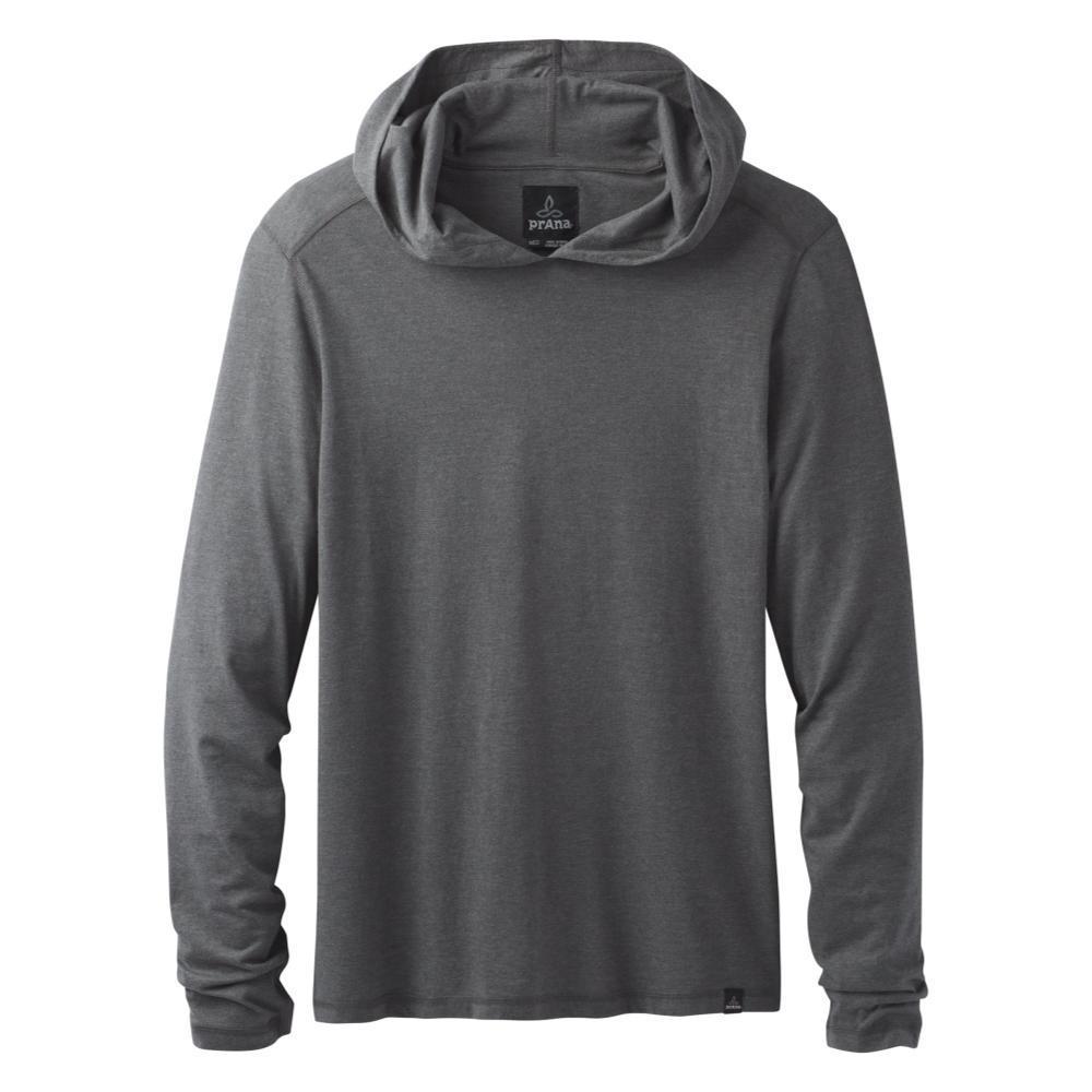 prAna Men's Long Sleeve Hooded T-Shirt CHRCOALHTHR