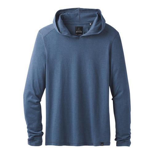 prAna Men's Long Sleeve Hooded T-Shirt Denimhthr