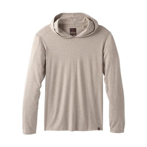 prAna Men's Long Sleeve Hooded T-Shirt Dkkhakihthr