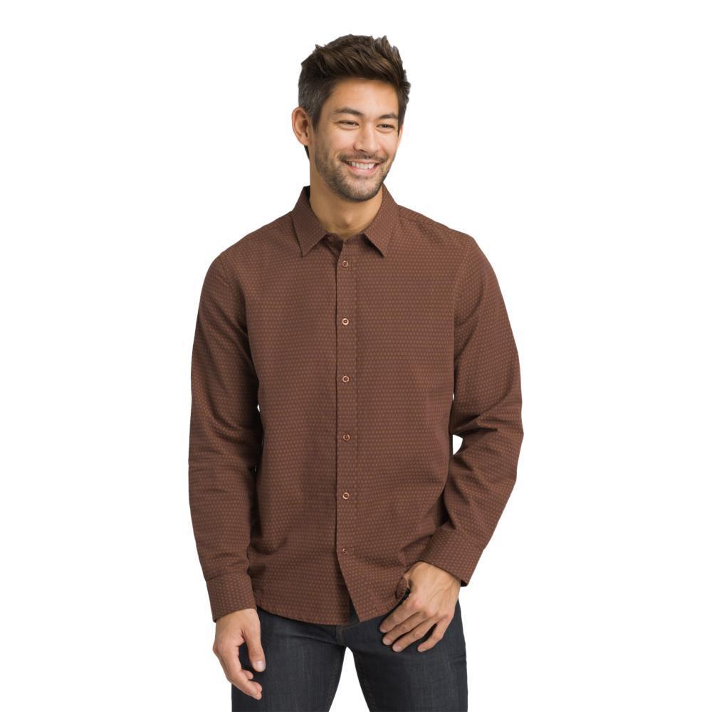 prAna Men's Graden Slim Long Sleeve Shirt WEDGEDWOOD