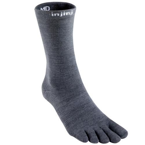 Injinji Liner Crew NuWool Socks Charcoal