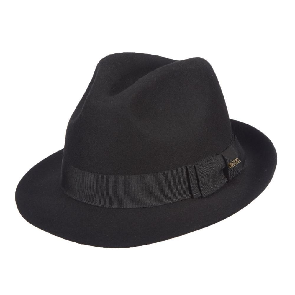 Dorfman-Pacific Co. Men's Fedora Wool Felt Hat BLACK
