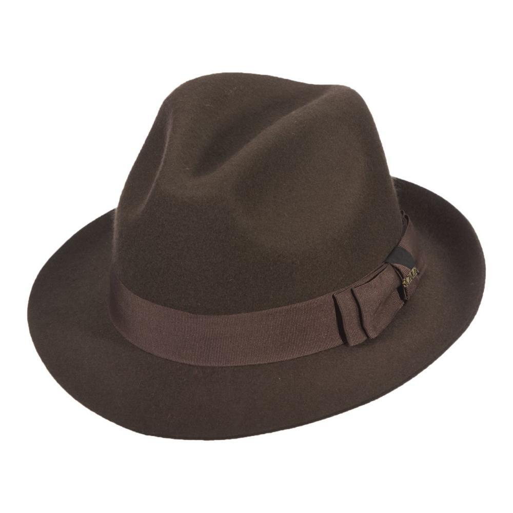 Dorfman-Pacific Co. Men's Fedora Wool Felt Hat BROW