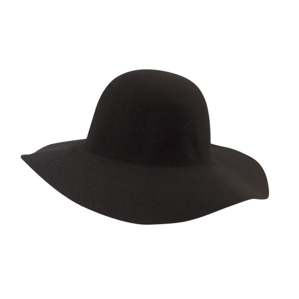 Dorfman-Pacific Co. Women's Floppy Felt Wool Hat BLACK