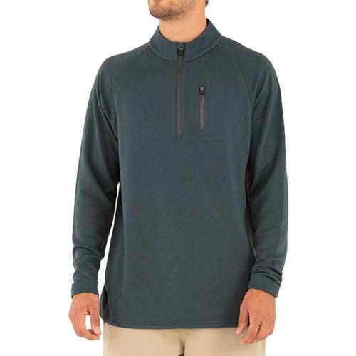 Free Fly Men's Bamboo Fleece Quarter Zip Pullover Bluedusk_112