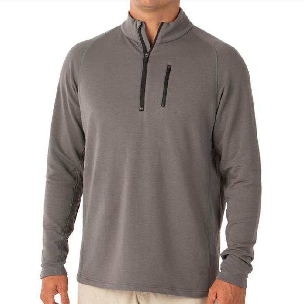 Free Fly Men's Bamboo Fleece Quarter Zip Pullover GREY110