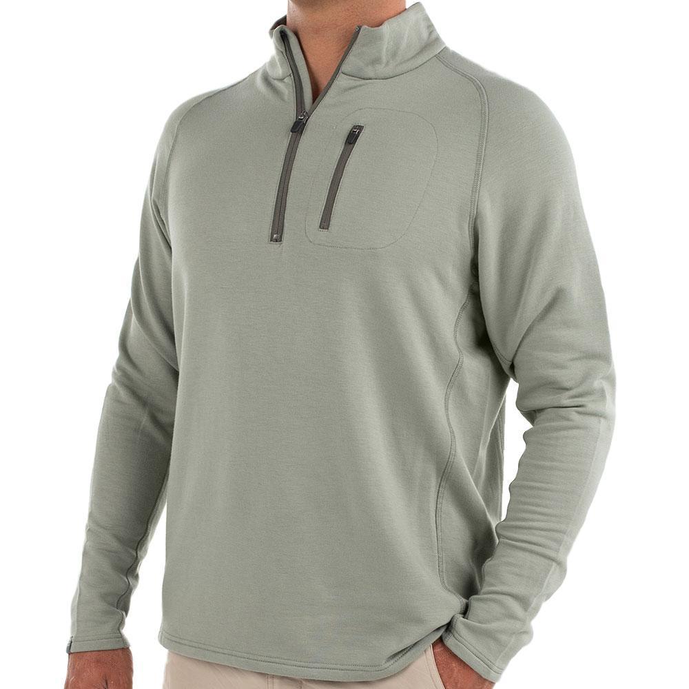 Free Fly Men's Bamboo Fleece Quarter Zip Pullover SAGEBRUSH107