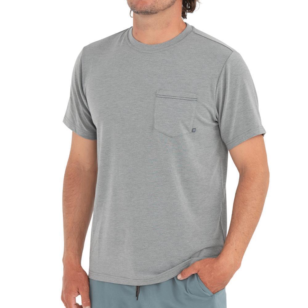 Free Fly Men's Flex Pocket Tee ASPENGREY110