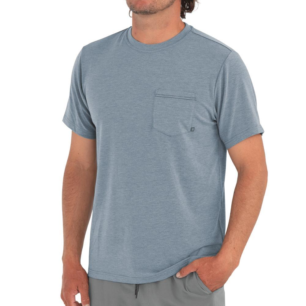 Free Fly Men's Flex Pocket Tee BLUEDUSK112