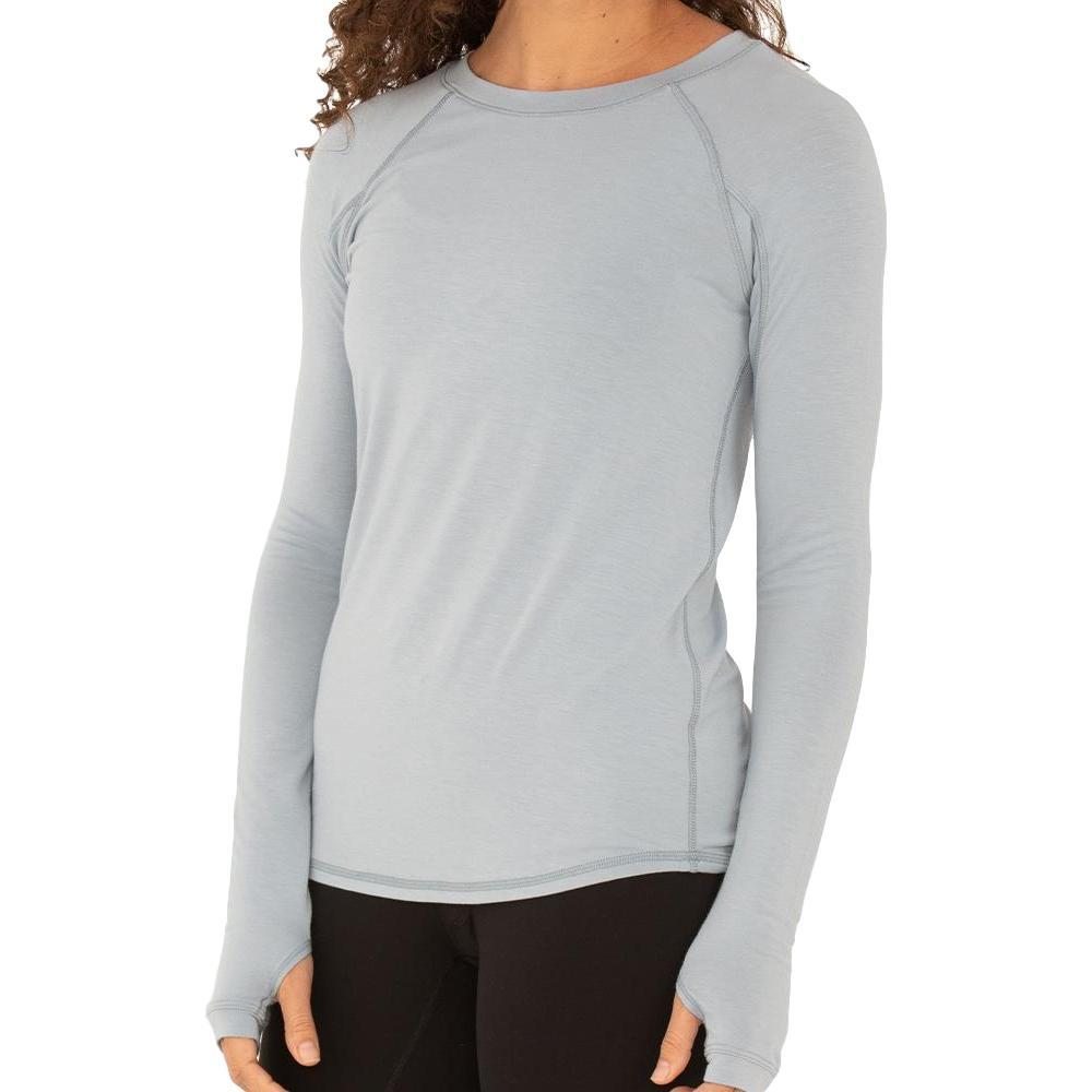 Free Fly Women's Bamboo Midweight Long Sleeve Tee CAYSBLUE_119