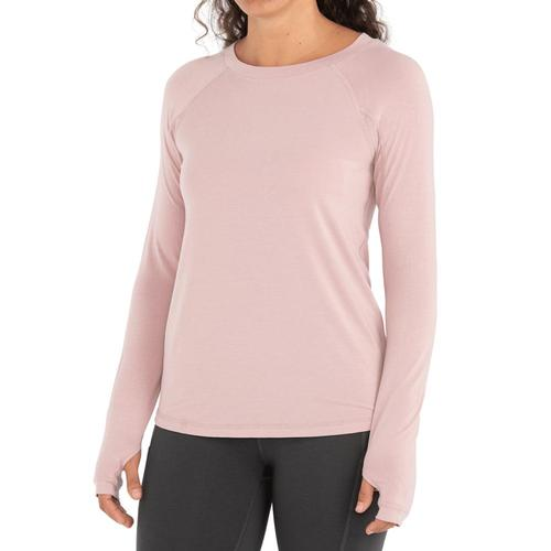 Free Fly Women's Bamboo Midweight Long Sleeve Tee Harborpink_122