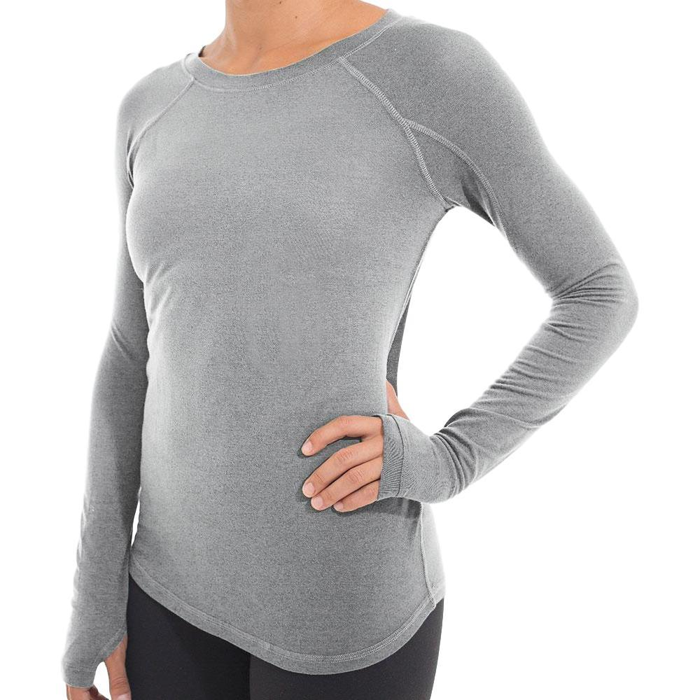 Free Fly Women's Bamboo Midweight Long Sleeve Tee HTHRGREY_106