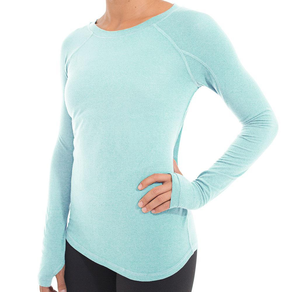 Free Fly Women's Bamboo Midweight Long Sleeve Tee HTHRMINT