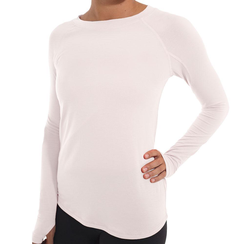 Free Fly Women's Bamboo Midweight Long Sleeve Tee PEACH