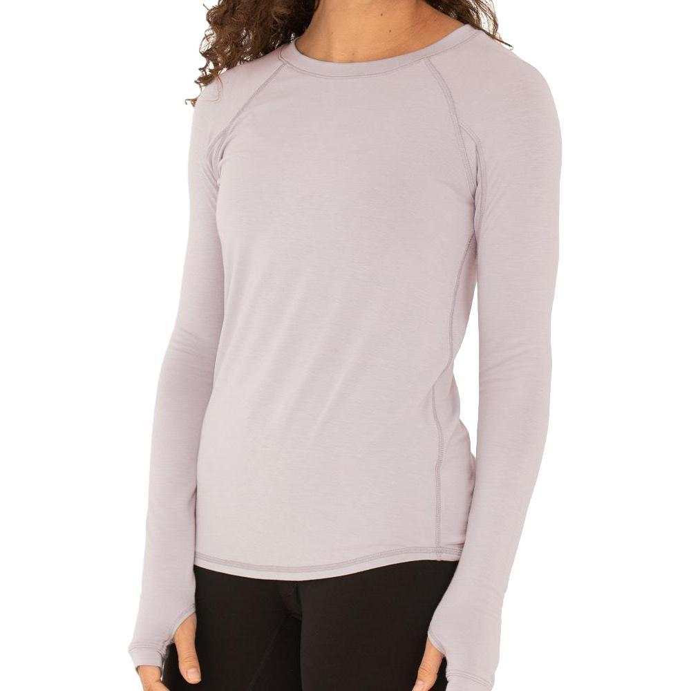 Free Fly Women's Bamboo Midweight Long Sleeve Tee ROSEWATER_120