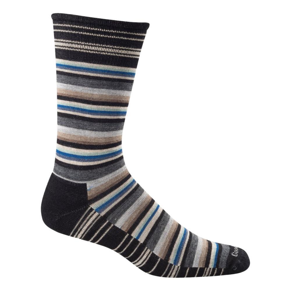 Goodhew Men's Fiesta Stripe Crew Socks BLACK_900