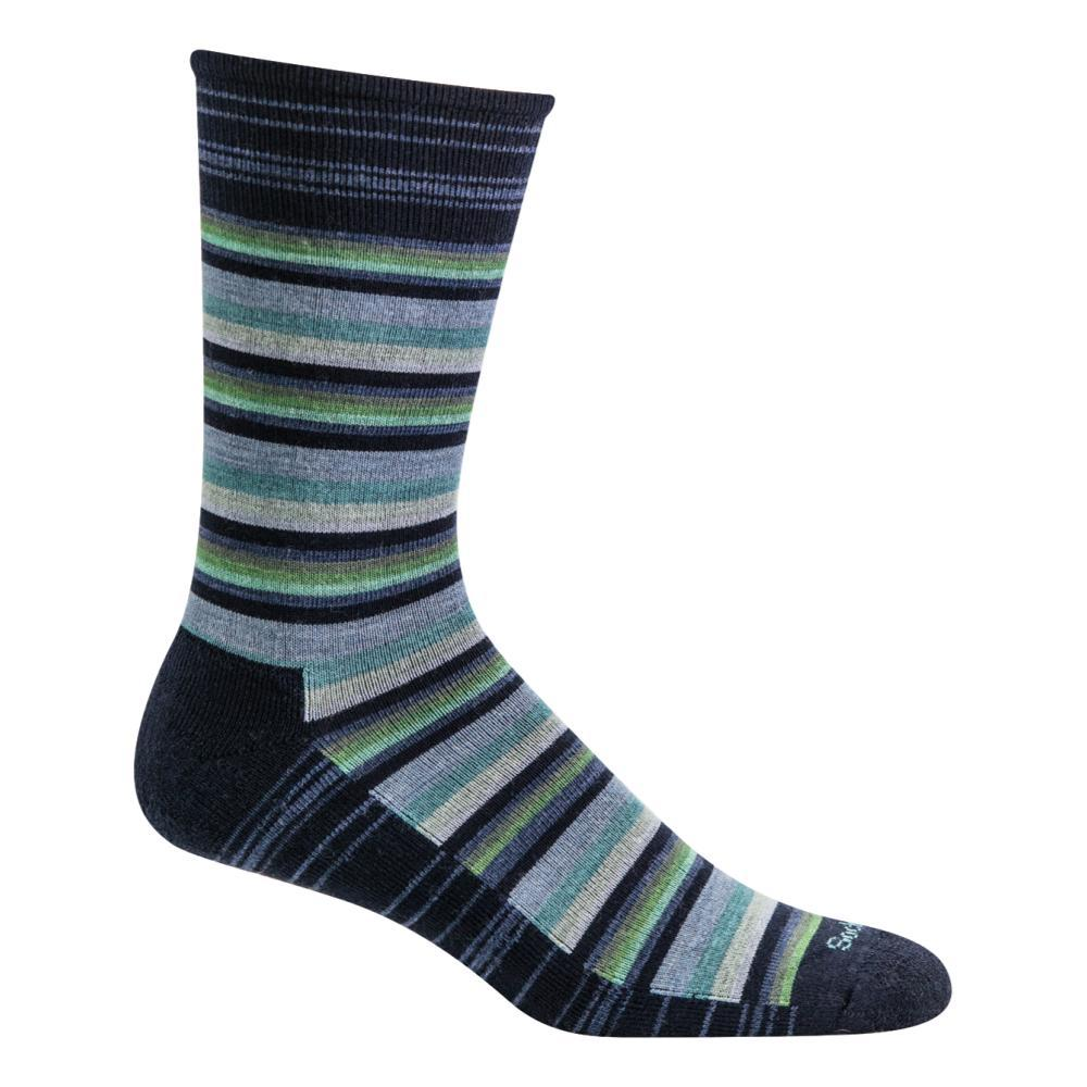 Goodhew Men's Fiesta Stripe Crew Socks NAVY_600