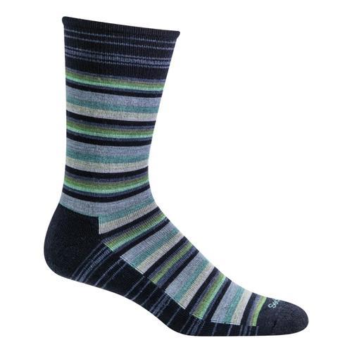 Goodhew Men's Fiesta Stripe Crew Socks Navy_600