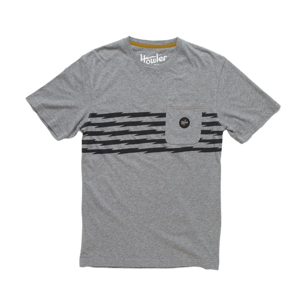 Howler Brothers Men's Voltage Road Stripe Classic Pocket T-Shirt HEATHERGREY
