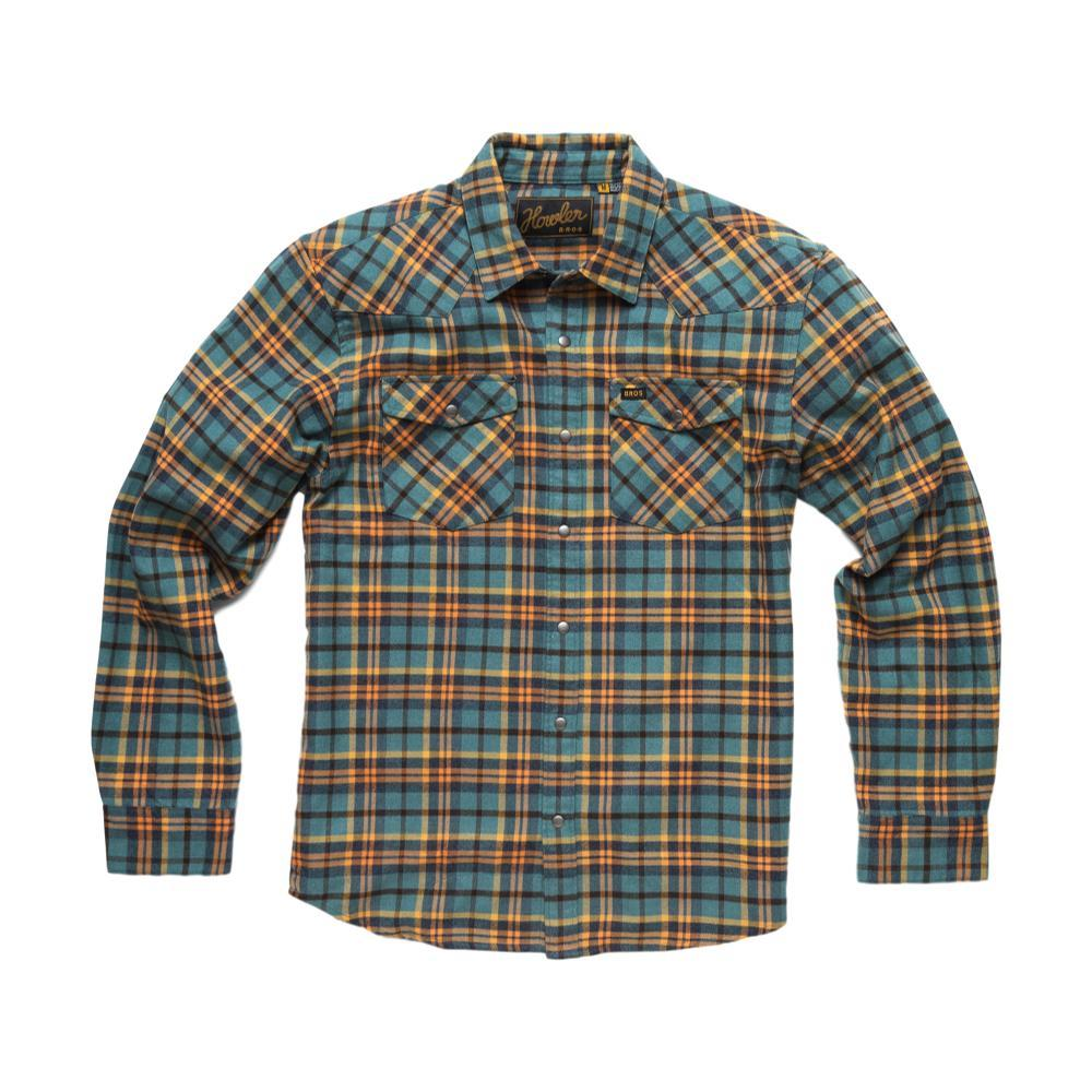 Howler Brothers Stockman Flannel Long Sleeve Snapshirt BLUEORANGE