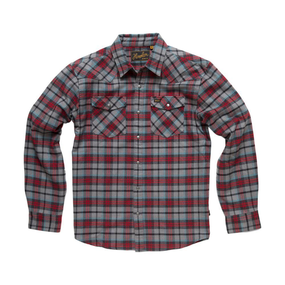 Howler Brothers Stockman Flannel Long Sleeve Snapshirt GREYOXBLOOD