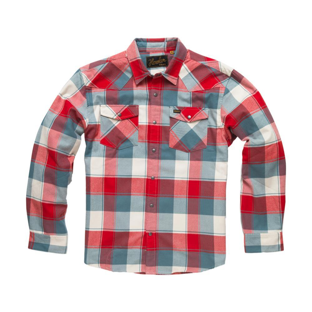 Howler Brothers Stockman Flannel Long Sleeve Snapshirt RODEORED