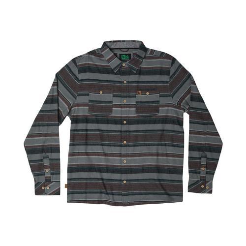 Hippy Tree Men's Ashbury Flannel Shirt Slate