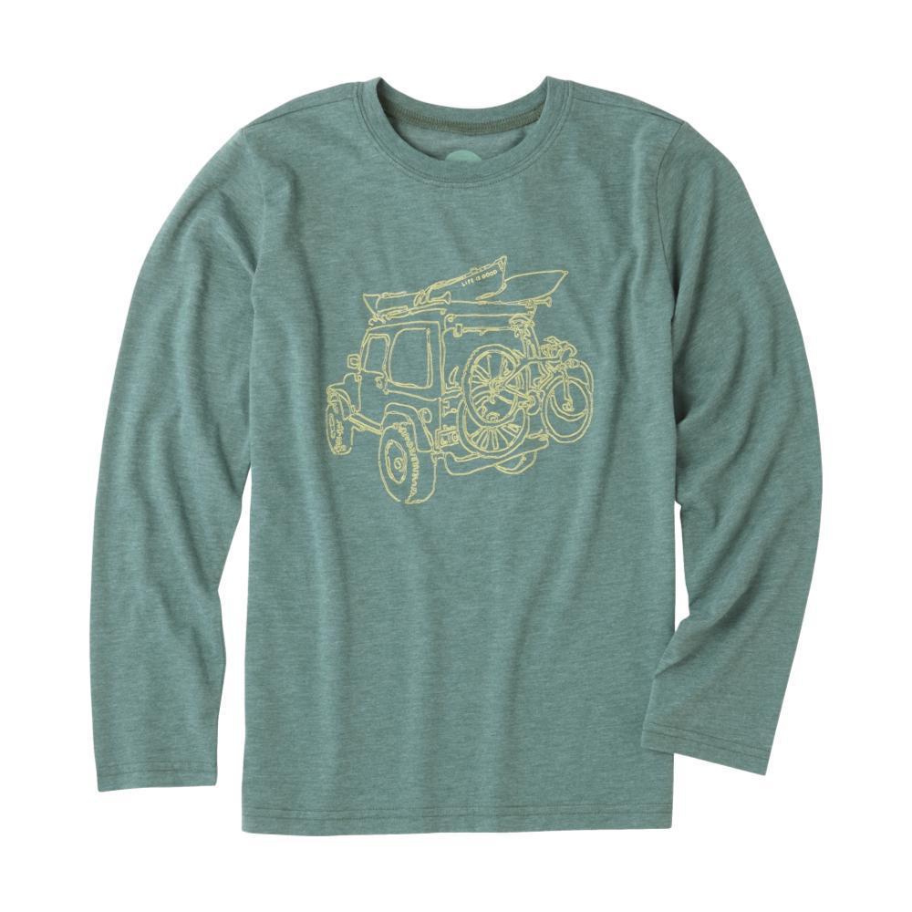 Life is Good Boys Off-Road Outdoor Long Sleeve Crusher Tee FRSTGRN