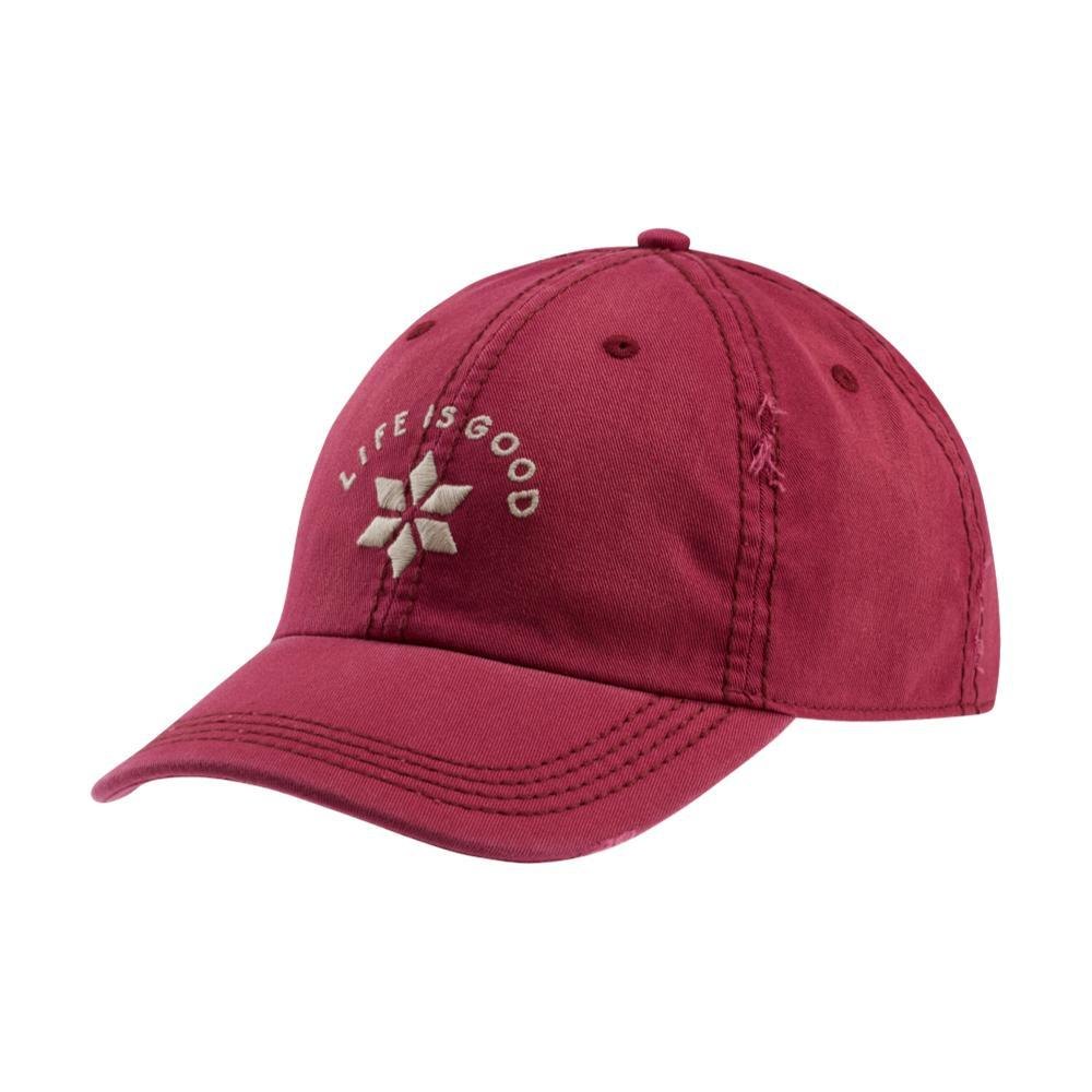 Life is Good Snowflake LIG Sunwashed Chill Cap WILDCHERRY
