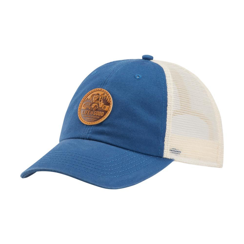 best sneakers ea94e 62cb3 Selected Color Life is Good Guitar Truck Patch Soft Mesh Back Chill Cap BONE