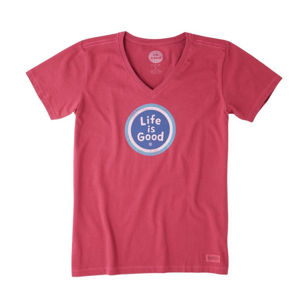 Life is Good Women's LIG Coin Crusher Vee WILDCHERRY