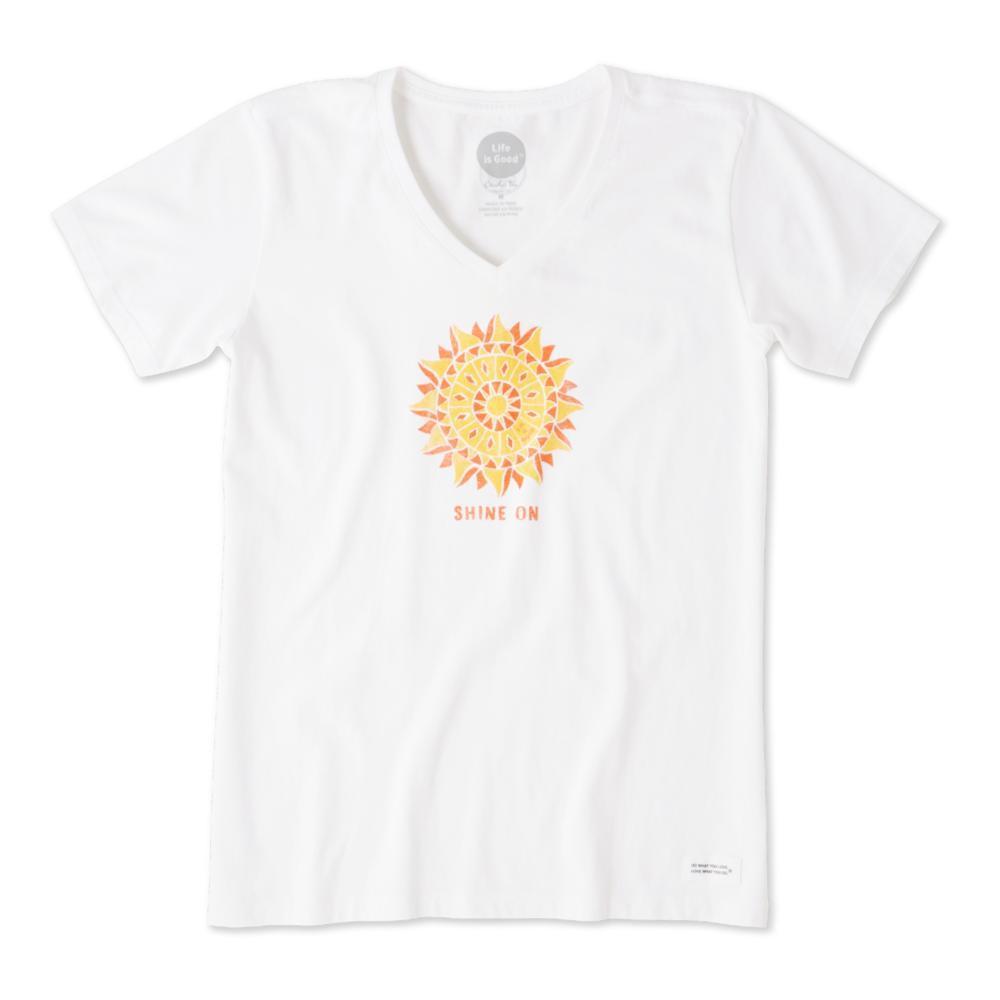 Life is Good Women's Shine On Sun Crusher Vee CLOUDWHITE